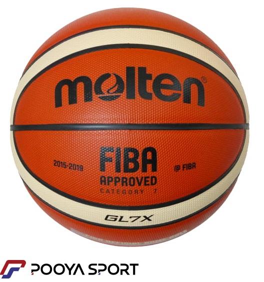 توپ بسکتبال مولتن مدل GL7X با چرم ایرانی (سایز 7)