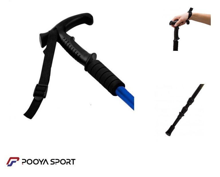 عصای کوهنوردی لیون مدل GS آنتی شک دار دسته دار