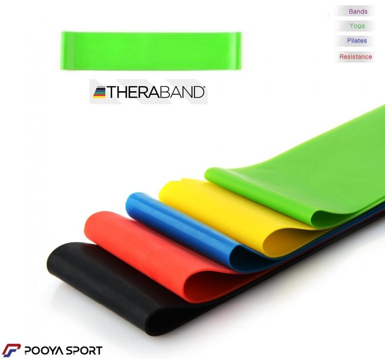 کش پیلاتس مینی لوپ سبز تکی مدل Thera-band