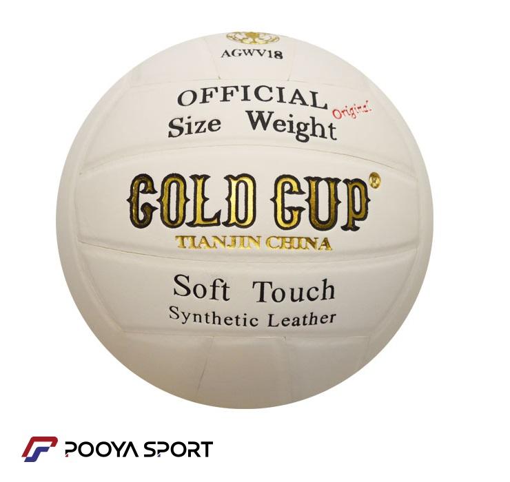 توپ والیبال Gold Cup مدل AGWV18 سفید 2018