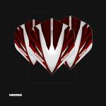 winmau Rhino Extra Thick Silver & Red