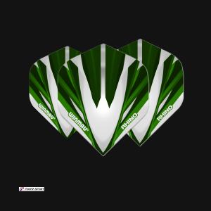 winmau Rhino Extra Thick Silver & green