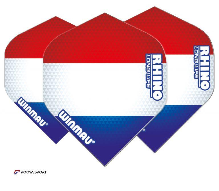 پر دارت 3 عددی طرح پرچم هلند winmau Rhino Extra Thick اصل