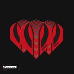 winmau Mega Standard Red & Black