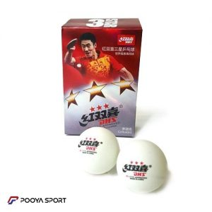 Three-star DHS ping pong ball, model D40, pack of 6 numbers