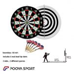 Pro Flocked Dart Board Size 18 inch Sport Dart