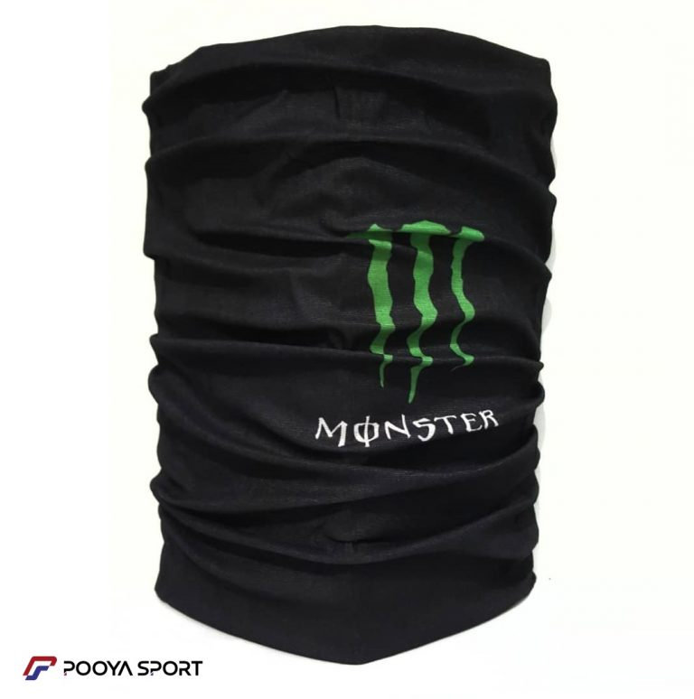دستمال سرو گردن اسکارف Scarf طرح مانستر مشکی ساده