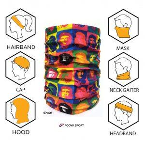 دستمال سرو گردن رنگی