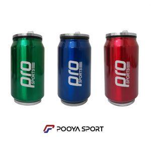 قمقمه فلزی نی دار سفری پرو اسپورتز Pro Sports مدل PS-121 ظرفیت 0.3 لیتر