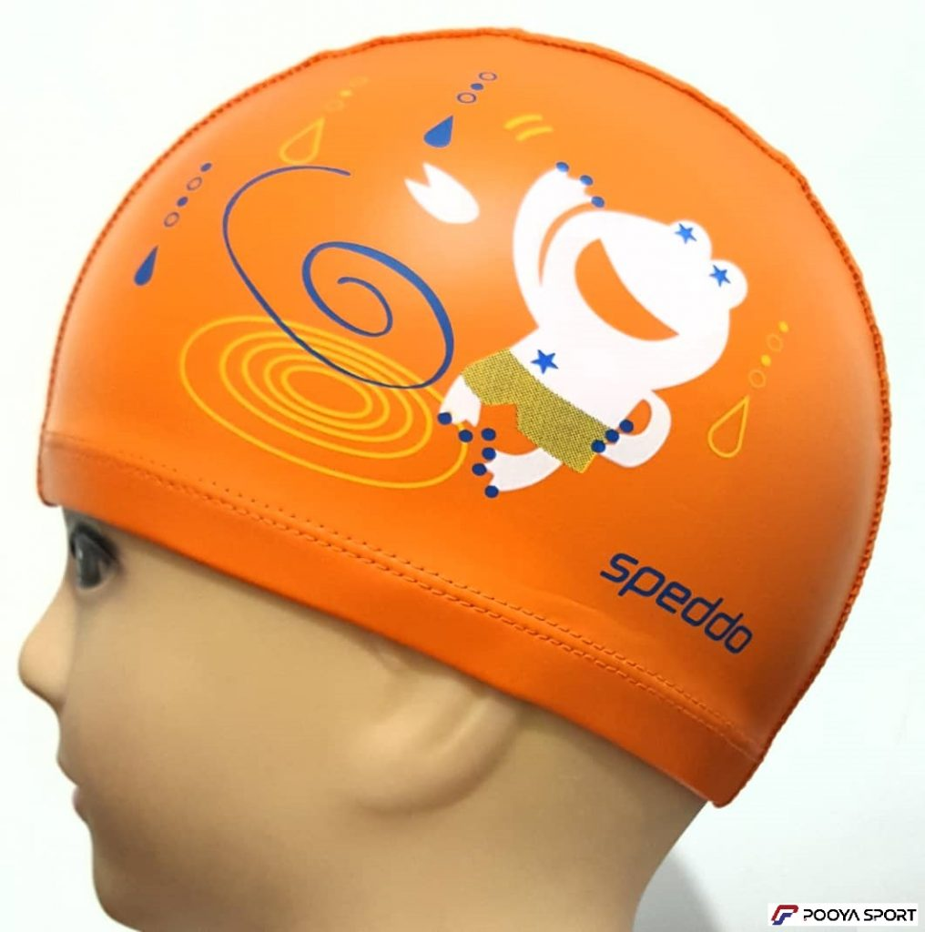 کلاه شنا بچه گانه PU مدل Frog