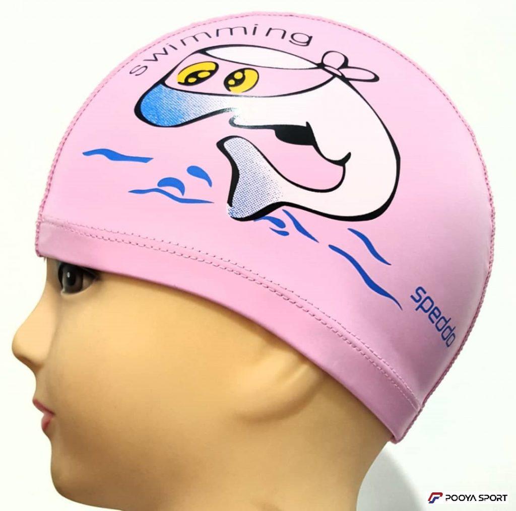 کلاه شنا  بچه گانه PU دلفین مدل Swimming