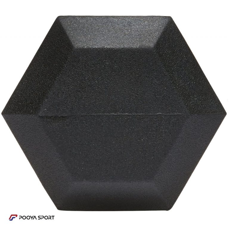 دمبل شش ضلعی 12/5 کیلوگرمی بسته دو عددی پویا