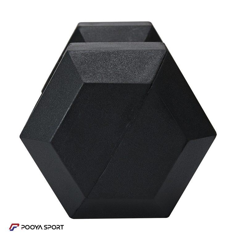 دمبل شش ضلعی 15 کیلوگرمی بسته دو عددی پویا