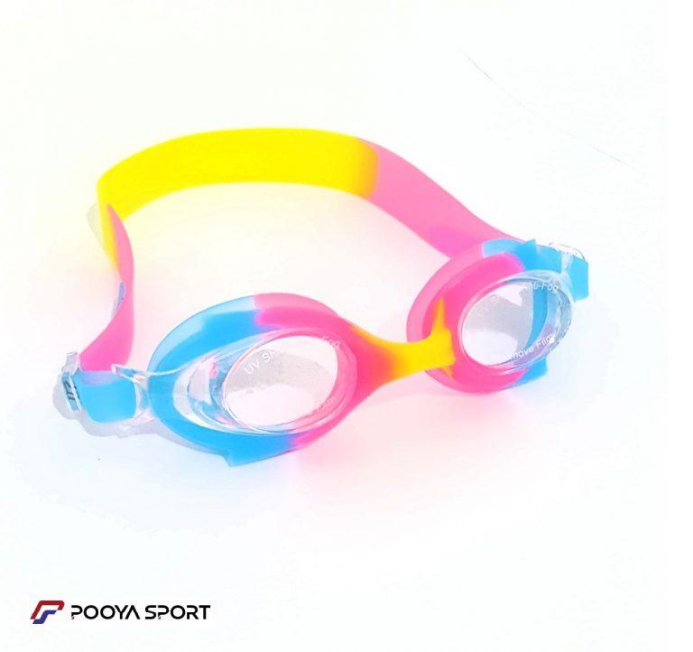 عینک شنا بچه گانه ژله ای رنگی Pro Sports مدل 05