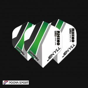 پر دارت 3 عددی سفید- سبز winmau Rhino Ultra Thick اصل