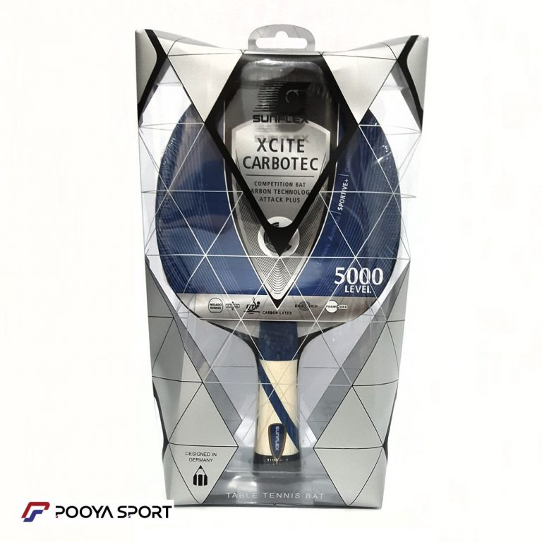 راکت پینگ پنگ کربن دار سانفلکس مدل XCITE CARBOTEC LEVEL 5000 اصل