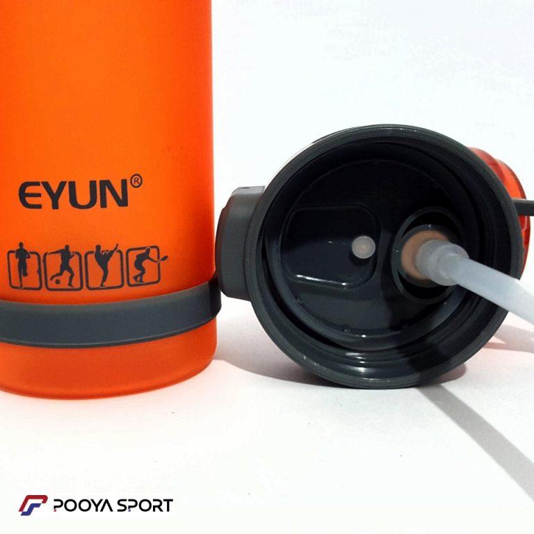 قمقمه نی دار ورزشی مات نشکن 650 میلی لیتر مدل EYUN